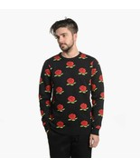 Rip N Dip We Bad Roses Black Knit Pullover Sweater, Large - $39.59