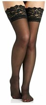 Berkshire BLACK Firm All The Way Thigh Highs, 3-pack, Size Small image 2