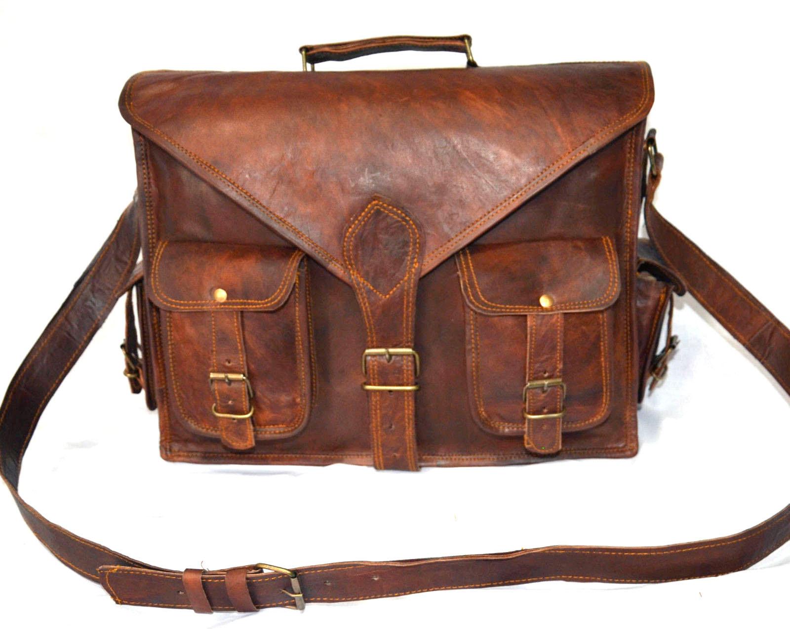 "Leather Messenger Bag Leather Satchel Leather Biefcase Leather Laptop MacBook15"""