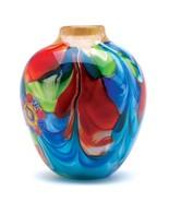 Floral Fantasia Art Glass Vase - $45.60