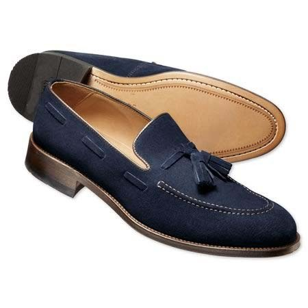 Handmade mens Navy blue loafer slip on shoes. Men suede dress shoes, Mens shoes for sale  USA