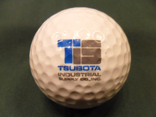 TSUBOTA INDUSTRIAL SUPPLY CO INC Logo Golf Ball Excellent Cond Fast Shipping