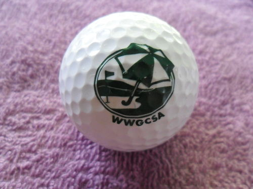WWGCSA Logo Golf Ball RAM TOUR SURLYN 392 Very Nice Condition FAST SHIPPING