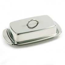 Norpro Stainless Steel Double Covered Butter/Cream Cheese Dish - €12,67 EUR