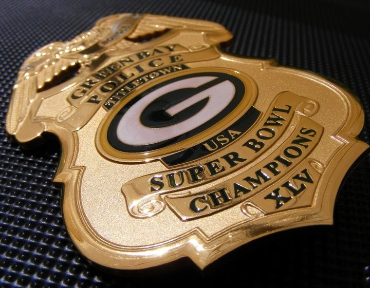 Green Bay PACKERS Green Bay POLICE Badge    2.5 x 3.5  Fridge Magnet for sale  USA