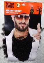Halloween Costume Hairy Chest Novelty Funny New Vinyl Chest Cover - $17.29