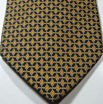 BROOKS BROTHERS Makers Rich Gold Navy Chains Tie 100% Silk  RARE - $29.99