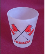 Canada Canadian Flag Frosted 2 oz Shot Glass Barware - $2.99