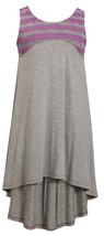 Bonnie Jean Little Girls 4-6X Grey/Purple Racerback High Low Knit Dress image 2