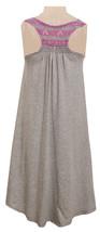 Big Girls Tween 7-16 Grey/Purple Perforated Stripe Racerback High Low Knit Dress image 3