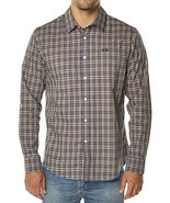 RVCA OIL RAG Mens Long Sleeve Button Front Shirt Size Medium NEW - $54.00