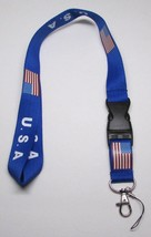 USA with Flag Quick Release LANYARD KEY CHAIN Ring Keychain ID Holder NEW - $9.99