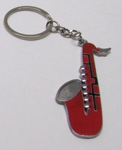 SAXOPHONE Red Silver Plated Metal Alloy KEY CHA... - $5.99