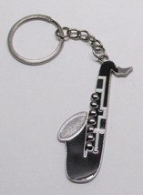 SAXOPHONE Black Silver Plated Metal Alloy KEY C... - $5.99