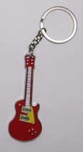 Electric GUITAR Red Metal Alloy KEY CHAIN Ring ... - $9.99