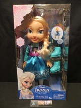 Disney Frozen Ice Skating Toddler Elsa Doll w/Ice Skates & Shoes Jakks P... - $49.15