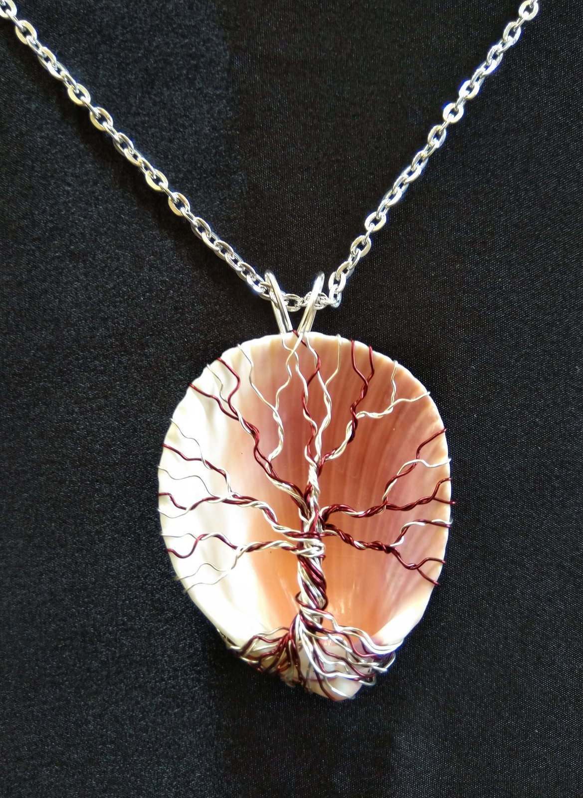 Tree of Life Seashell Necklace, Choice of Wire and Size
