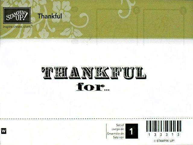Stampin' Up! Thankful Rubber Stamp #133313