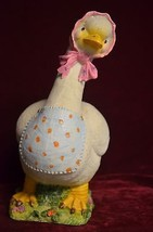"""Unique cute and colorful looking resin mommy goose 12"""" high 9"""" long and ... - $12.13"""