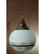 Pendant Light Fixture Vianne Satin Glass Ball S... - $49.95