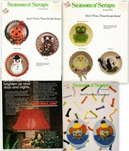Macrame Instruction Leaflets Lot Seasons n' Scraps Vol. 1, 4, 5 and Lampshade - $9.95
