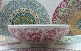 Vintage Carefree True China By Syracuse Mayflower Large Serving Bowl - $18.00