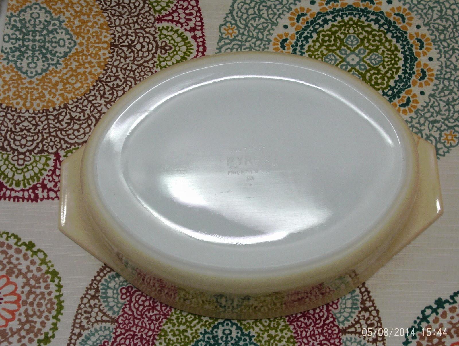 Vintage Pyrex Gold Casserole #95 2-1/2 Quart Promotional Casserole Dish