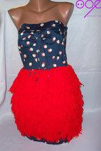 recycle red yarn  dress handmade %50 discount - $165.00