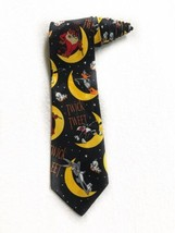 Looney Tunes Mania Halloween Trick Or Treat Moon Cartoon Novelty Tie Nec... - $19.79