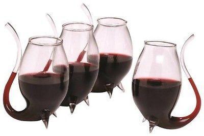 unique Porto Sippers Set Of 4 Glass Glasses  Drink Wine Liqueurs gift boxed new