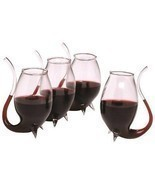 unique Porto Sippers Set Of 4 Glass Glasses  Drink Wine Liqueurs gift bo... - $48.04 CAD