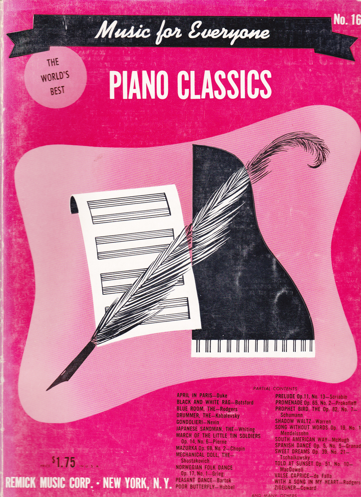 Music for everyone the world 39 s best piano classics other for Piano house classics