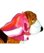 Pink Coral Purple Geometric Print Fleece Dog Snood by Howlin Hounds Size... - $12.50