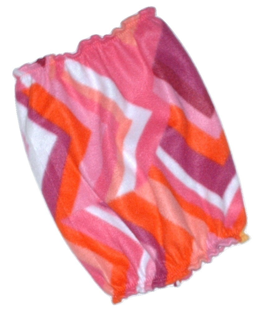 Pink Coral Purple Geometric Print Fleece Dog Snood by Howlin Hounds Size Large