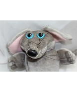 "Mouse gray stuffed Vintage 1985 Graphics Int'l 7"" Blue eyes Fat Hungry Plush   - $16.81"