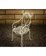 Decorative White Wire Chair - $12.00