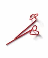 Red Heart Long Stud Earrings - $18.90