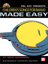 Children's Songs For Banjo Made Easy/Book w/CD Set/New - $12.99