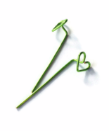 Green Heart Long Stud Earrings - $18.90