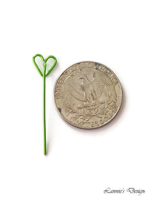 Green Heart Long Stud Earrings