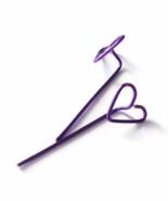 Purple Heart Long Stud Earrings - $5.90