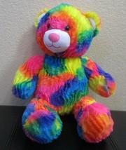 """Build A Bear Workshop Rainbow Colored Teddy Bear Plush 17"""" - $21.77"""