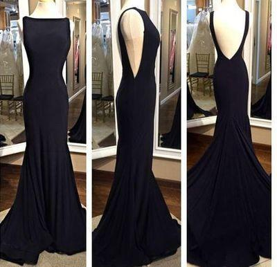 black prom Dress,backless Prom Dress,sheath prom dress,evening prom dresses