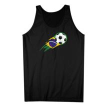 Brazilian Flag Soccer Ball Brush Stroke Brazil Soccer Tank Top - $21.99+
