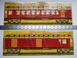 Twilight Express Puzzle Milton Bradley Antique Jigsaw Pieces Box Toy Treasure image 6