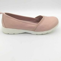 Lands End Womens Gatas Comfort Flat Shoes Pink White Lightweight Slip Ons 8.5 B - $24.74