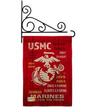 USMC Burlap - Impressions Decorative Metal Fansy Wall Bracket Garden Fla... - $36.97
