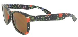 Forecast Sample Women's Ziggie Sunglasses, Black Floral Frame, Brown Lens - $19.99
