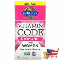 Garden of Life, Vitamin Code, RAW One, Once Daily Multivitamin for Women, 75 Veg - $48.83