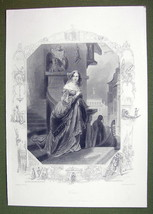 VENICE Young Maiden Home Escape Visit Lover - SUPERB Quality Print Engra... - $22.95